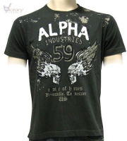 "Alpha Industries T-Shirt ""Burning Skull T"""
