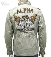 """Alpha Industries Jacket """"Burning Skull"""""""