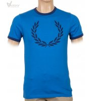 "Fred Perry Laurel Print Ringer T-Shirt ""M2207"""