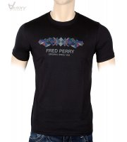 "Fred Perry Argyle Print T-Shirt ""M3295"""